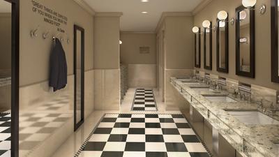 Athletic Club Bathroom