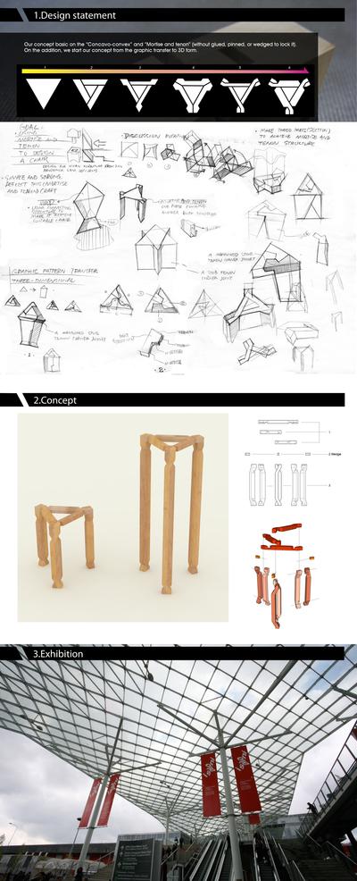 JIE / 解 – Experimental Chair Design