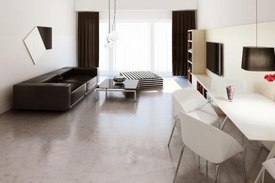 Studio flat living room