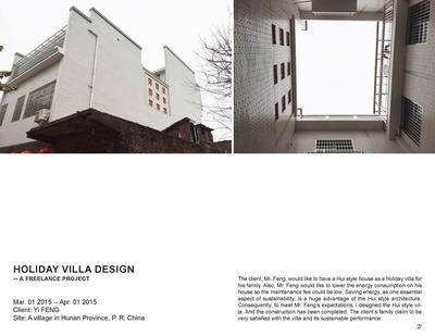 Holiday Villa Design -- A Freelance Project