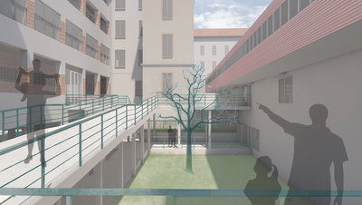 Masters Thesis - Requalification of Borletti Factory. New space for cultural relations and collective living, Milan, Italy Master's Thesis