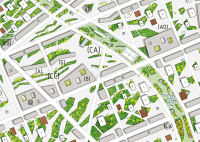 Macro-eco urbanism - XXL - Neighborhood of 10 000 inhabitants - Urban planning 494 Acres, Finocchio Area, Rome, Italy, 2009