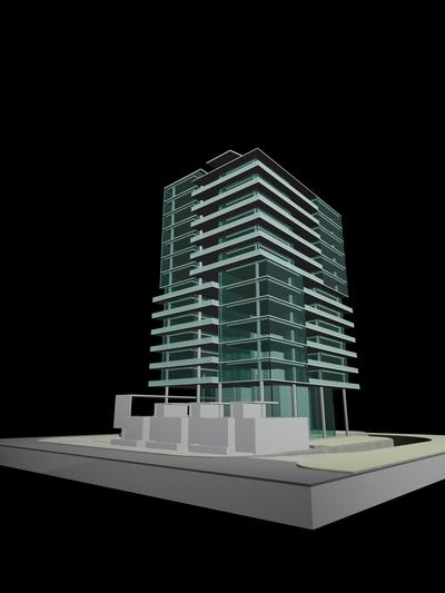Dubai 13 story mixed use tower study