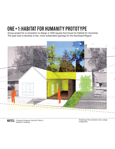 One+1: A Housing Prototype for Habitat for Humanity