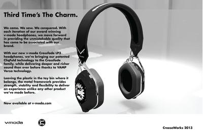 v-moda Crossfade LP3 Headphones x CreeseWorks