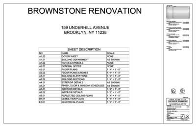 BROWNSTONE RENOVATION