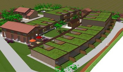 Ecological village for the elderly, Treviso, Italy.