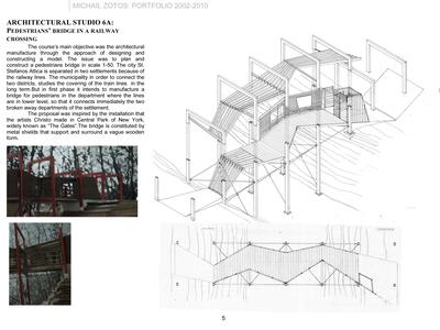 ARCHITECTURAL STUDIO 6A: PEDESTRIANS' BRIDGE IN A RAILWAY CROSSING