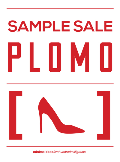 Plomo - Sample Sale Sign