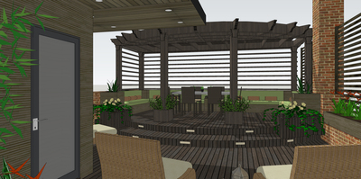 Rooftop Deck and Pergola