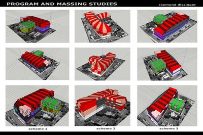 Philadelphia Mixed Use Massing Models