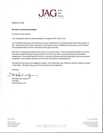 Recommendation letter 4