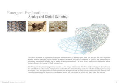 Emergent Explorations: Analog and Digital Scripting