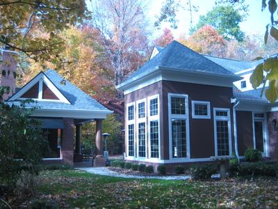 Fairchild Residence - Exterior Kitchen Pavilion & Breakfast Seating Addition