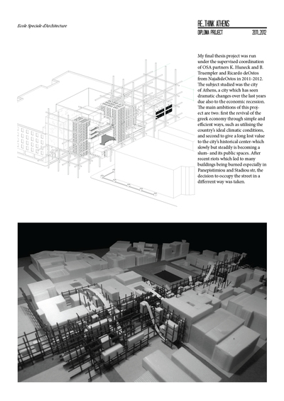 Diploma Project // Re-think Athens