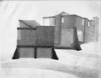 B. Pencil on paper, image 2