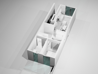Ground floor apartment interior proposal