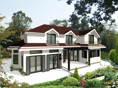 Architectural project of private house near to Sofia, Bulgaria.