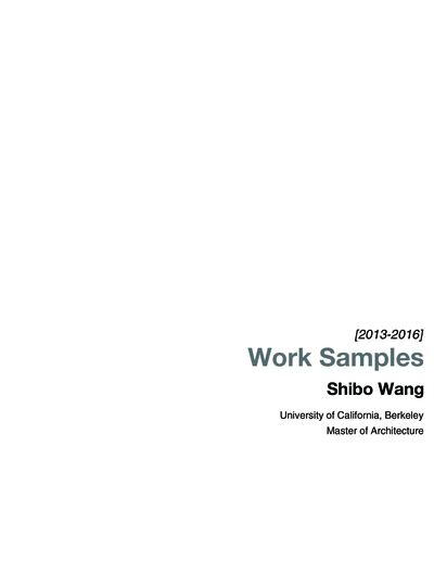 Shibo Wang 2013-2016 Work Samples