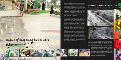 Revitalization of M.G Road Boulevard(Urban development for Bangalore metro)