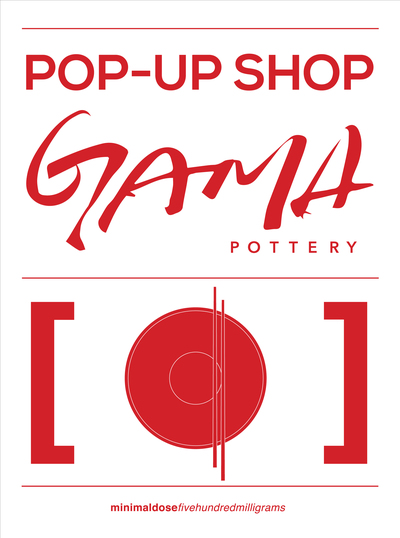 Gama Pottery - Pop-Up Shop Sign