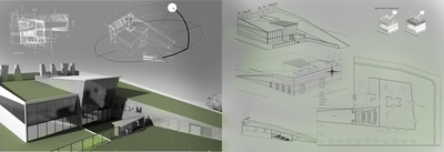 Offices and production works for airplanes turbine.
