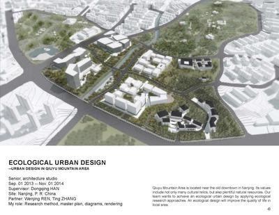 Ecological Urban Design --Urban Design in Qiuyu Mountain Area