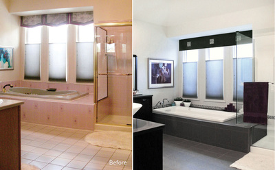 Master Bath Renovations - Before & After