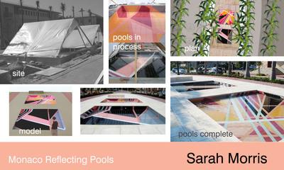 Sarah Morris Monaco Reflecting Pools