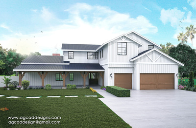 Exterior 3D Architectural Rendering
