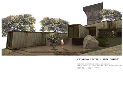 Contest Finalist - Climbing Center