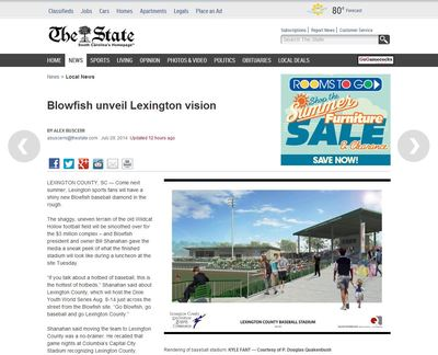 Lexington Blowfish Minor League Baseball Stadium