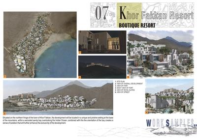 Khor Fakkan Bay resort.