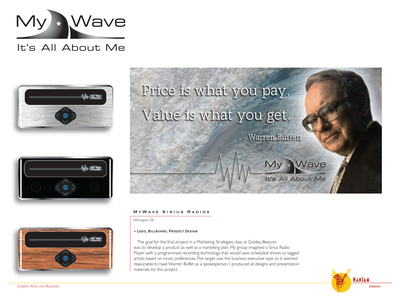 MyWave Logo, Billboard, and Product Design