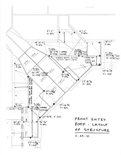 4. Sketch Layout of Front Entry Roof Structure