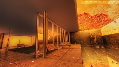 Barcelona Pavillion 3D Renderings