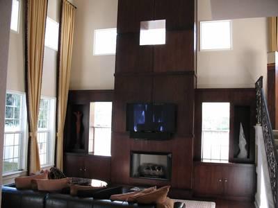 temple residence custom fireplace