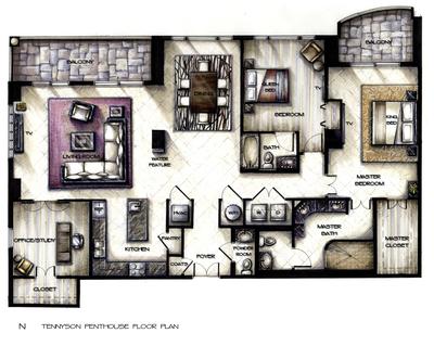 Tennyson Penthouse Concept Design