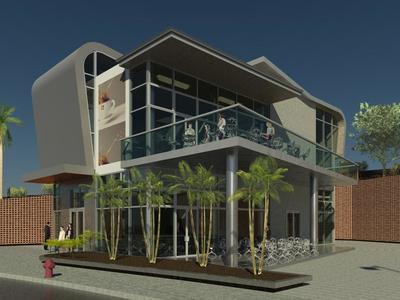 Coffee Shop - Revit Modeling-BIM platform
