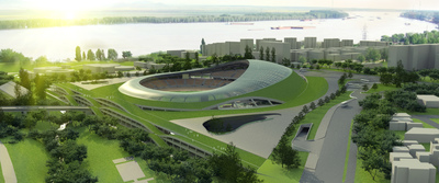 Football (soccer) stadium in Galati (Roumania)