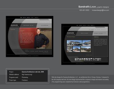 Esencia Architecture web site, 2009