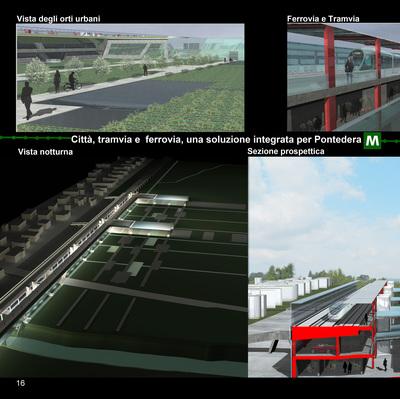 An integrated transport center for Pontedera, Italia