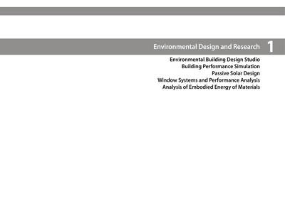 Environmental Design and Research
