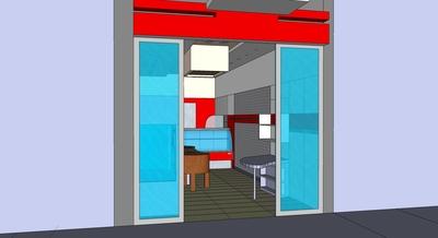 Interior design of a butchers, Lamia, Greece