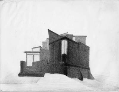 A. Pencil on paper, image 1