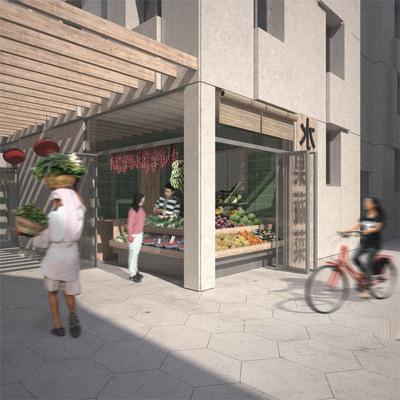 Housing and Retailing in Xiaodongmen, Shanghai