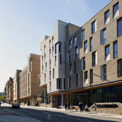 RIAS Presidents Award for Placemaking—Holyrood North Student Accommodation and Outreach Centre in Edinburgh by jmarchitects, Oberlanders Architects and John C Hope Architects
