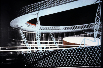 model for the National Library of France by Bernard Tschumi