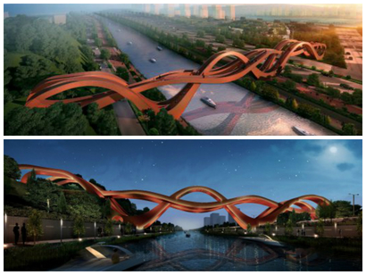 NEXT Architects bridge in Changsha city