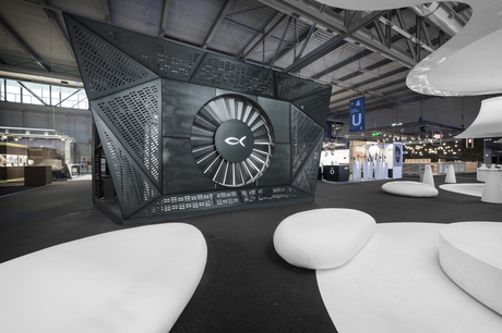 Blackfin Stand at Mido 2015 - designed by anidride\design studio - won the BESTAND award 2015